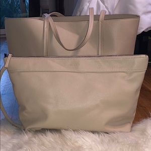 Forever 21 Faux Leather Tote with Detachable Pouch